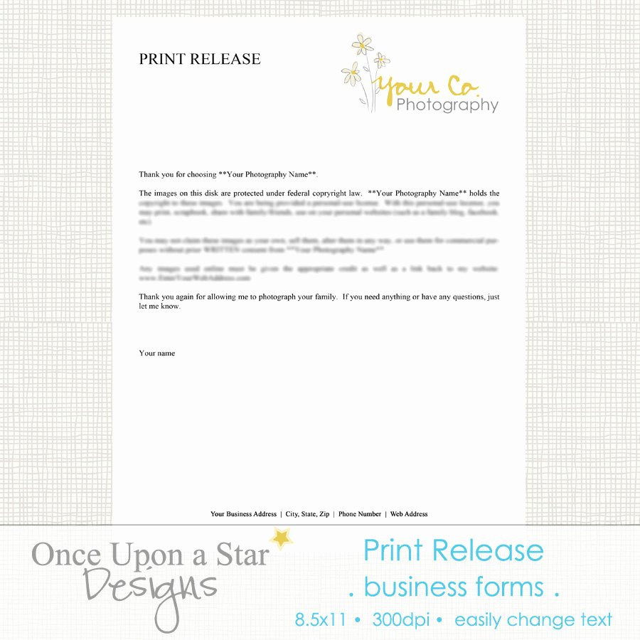 Print Release form Template Fresh Graphy forms Print Release form by Ceuponastardesigns