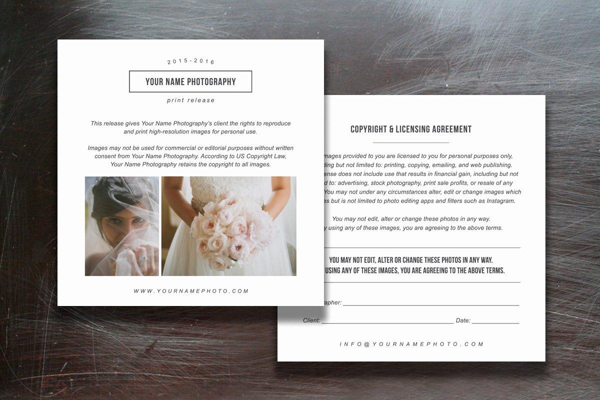 Print Release form Template Unique Print Release Templates Flyer Templates Creative Market