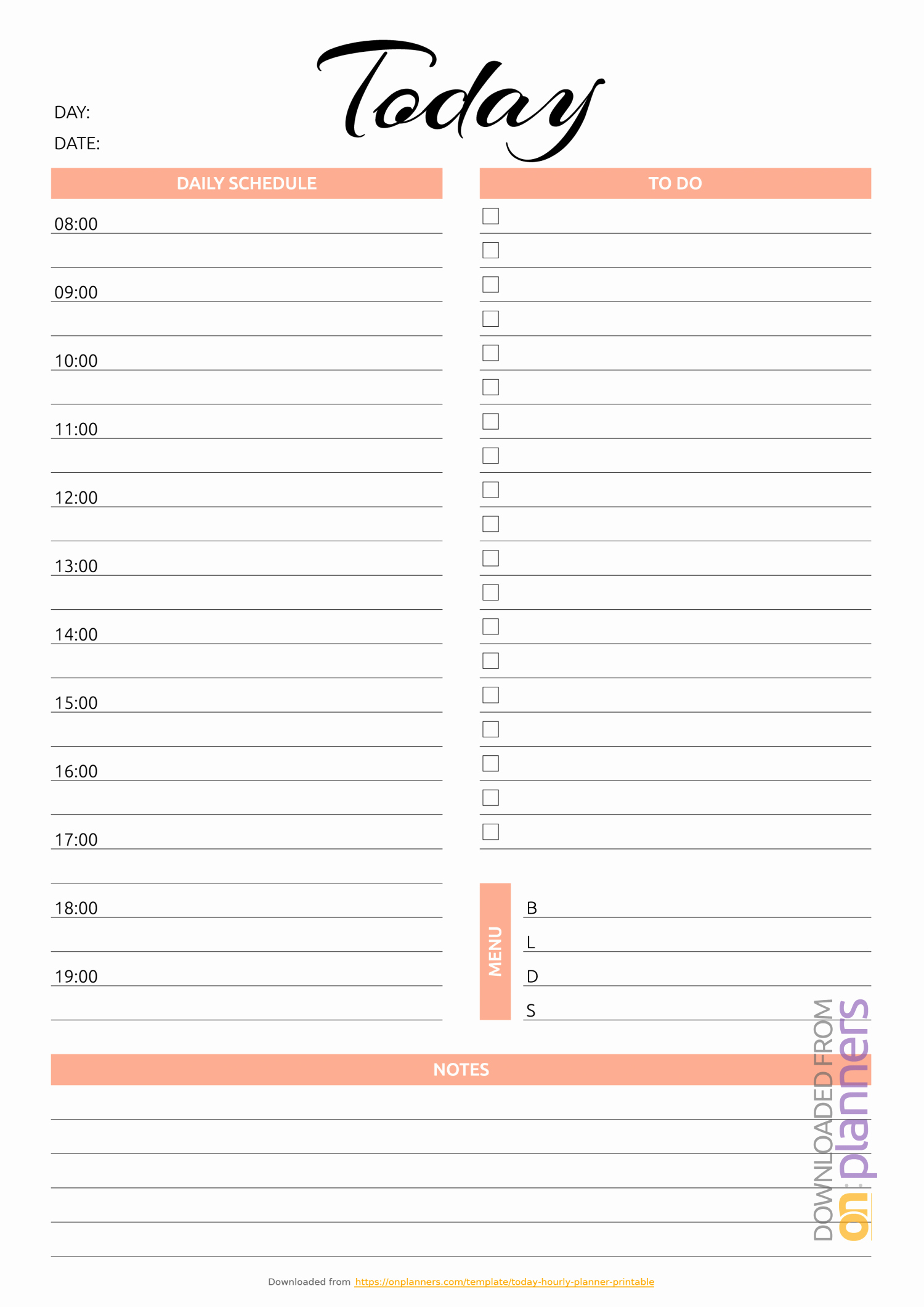 Printable Daily Schedule Template Elegant Daily Planner Templates Printable