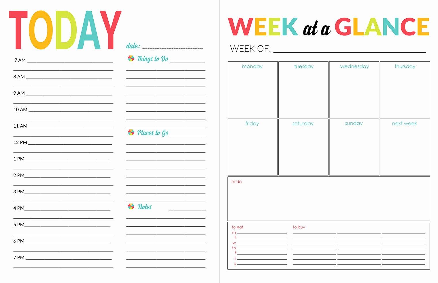 Printable Daily Schedule Template Elegant School Year organizer & Planner Printable Pack Yellow