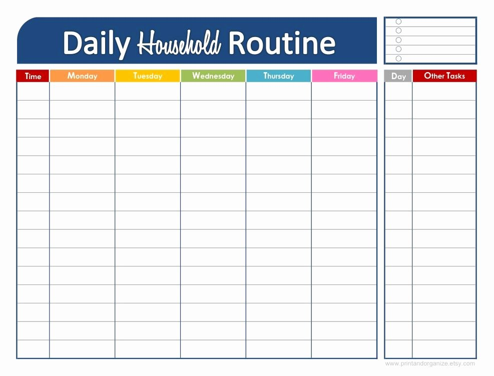 Printable Daily Schedule Template Fresh Printable Daily Schedule for Kids