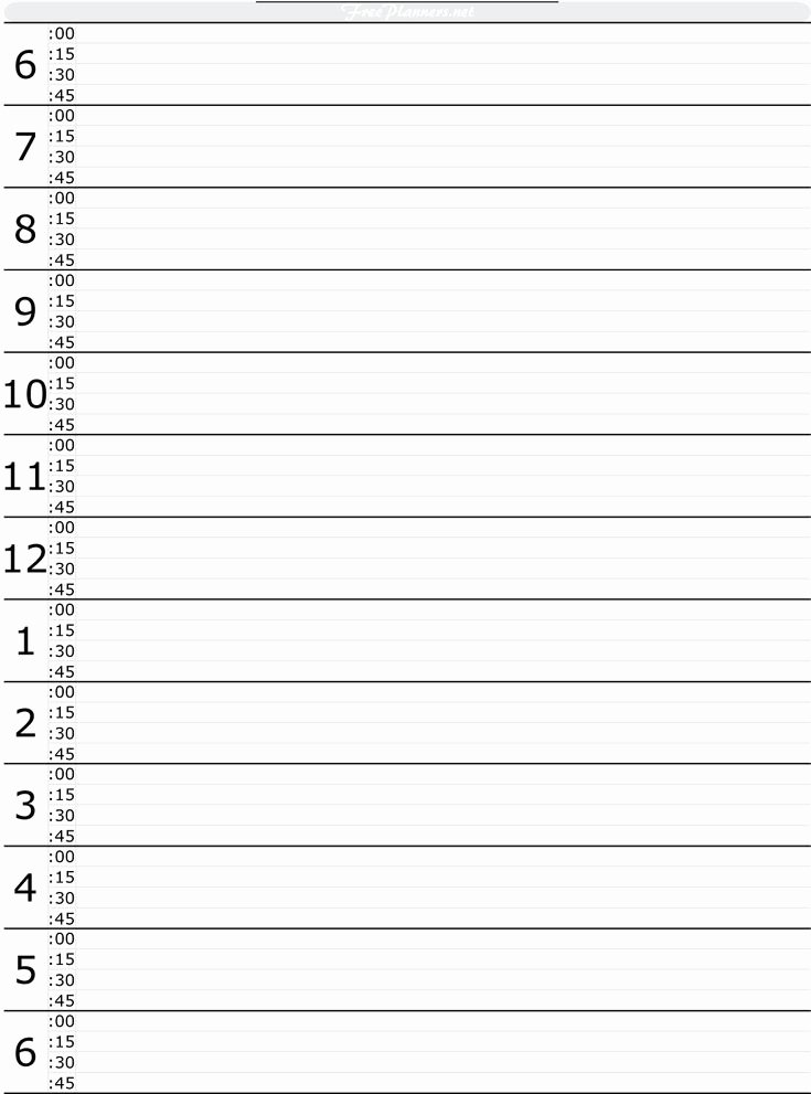 Printable Daily Schedule Template Inspirational Free Printable Hourly Daily Planner