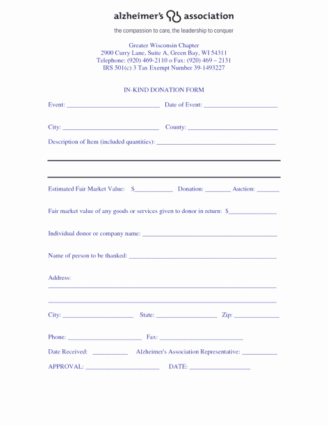 Printable Donation form Template Awesome 36 Free Donation form Templates In Word Excel Pdf