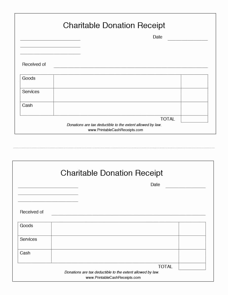 Printable Donation form Template Awesome 40 Donation Receipt Templates & Letters [goodwill Non Profit]