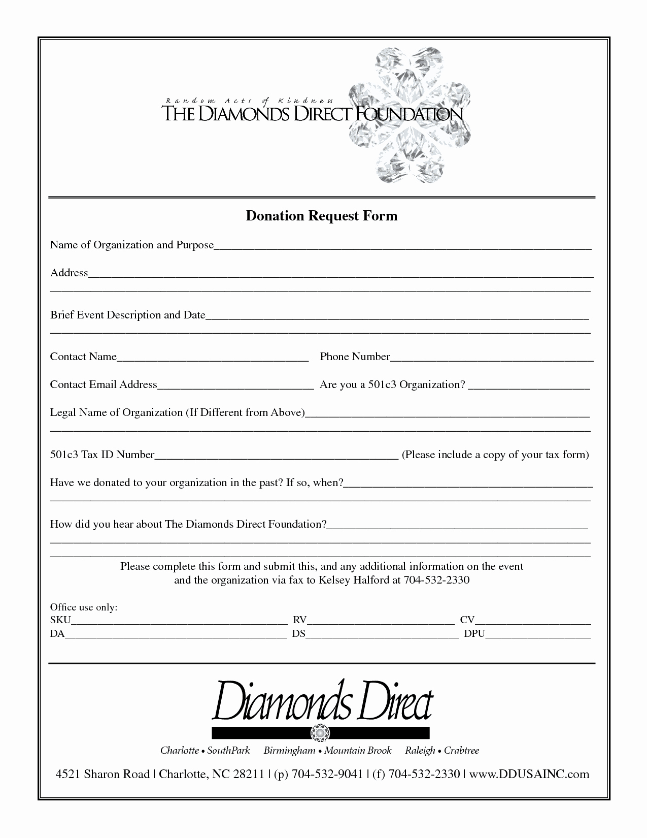 Printable Donation form Template Best Of 36 Free Donation form Templates In Word Excel Pdf