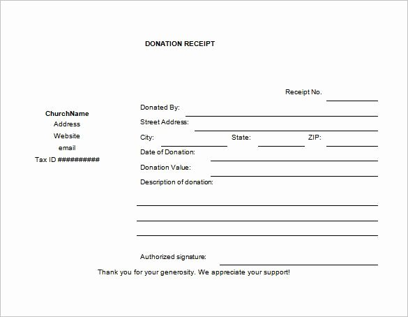 Printable Donation form Template Best Of Donation Receipt Templates