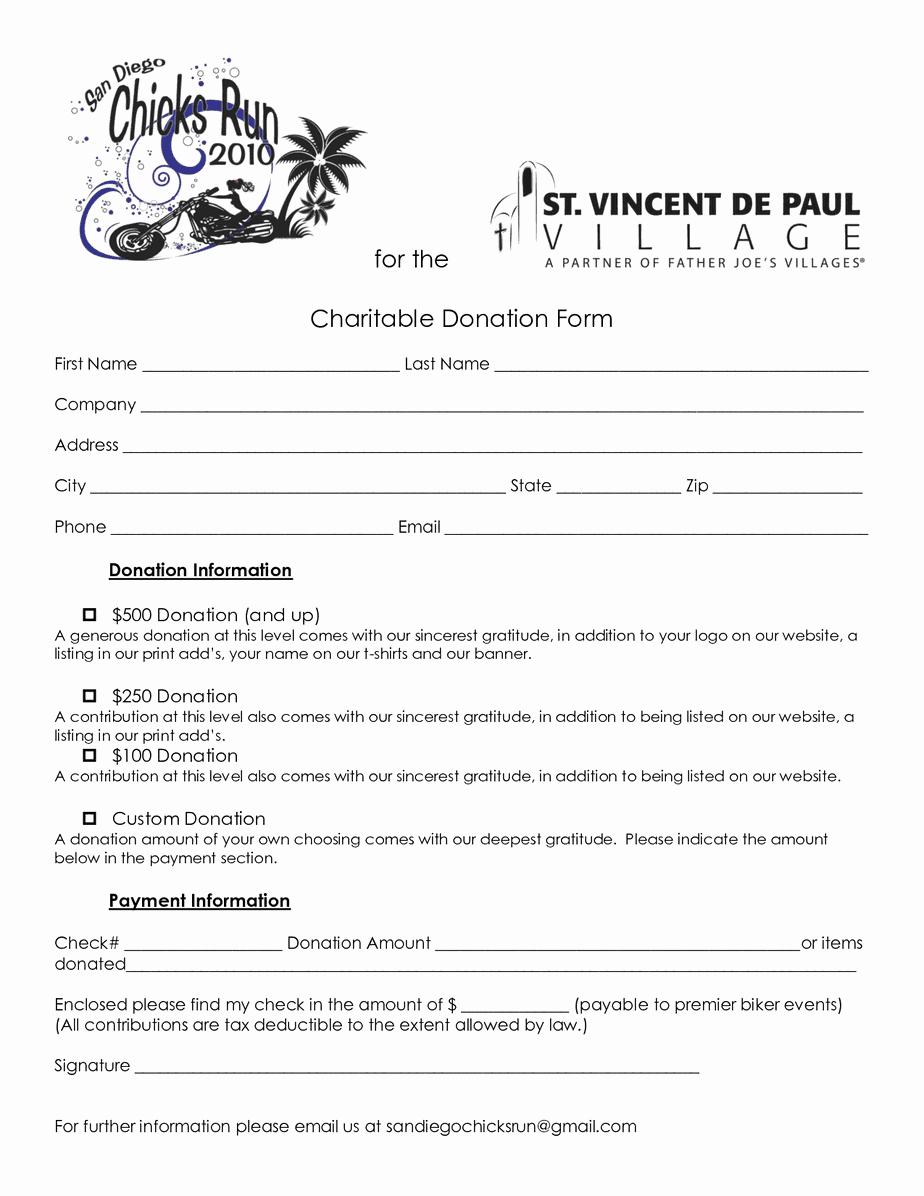 Printable Donation form Template Elegant 36 Free Donation form Templates In Word Excel Pdf