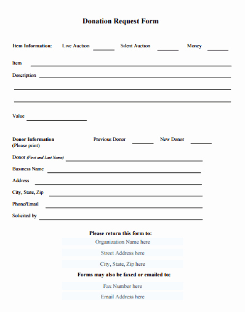 Printable Donation form Template Fresh 36 Free Donation form Templates In Word Excel Pdf