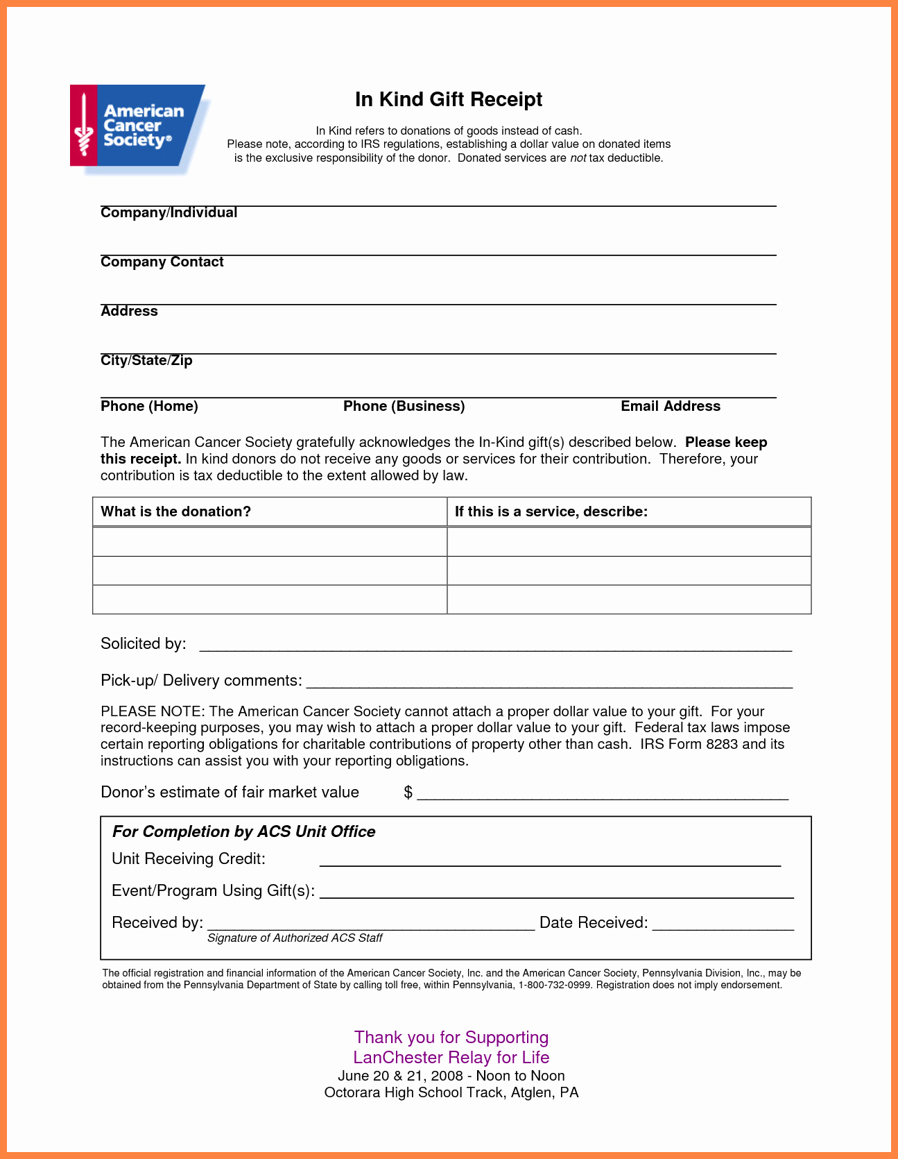 Printable Donation form Template Lovely 4 Donation Slip Template