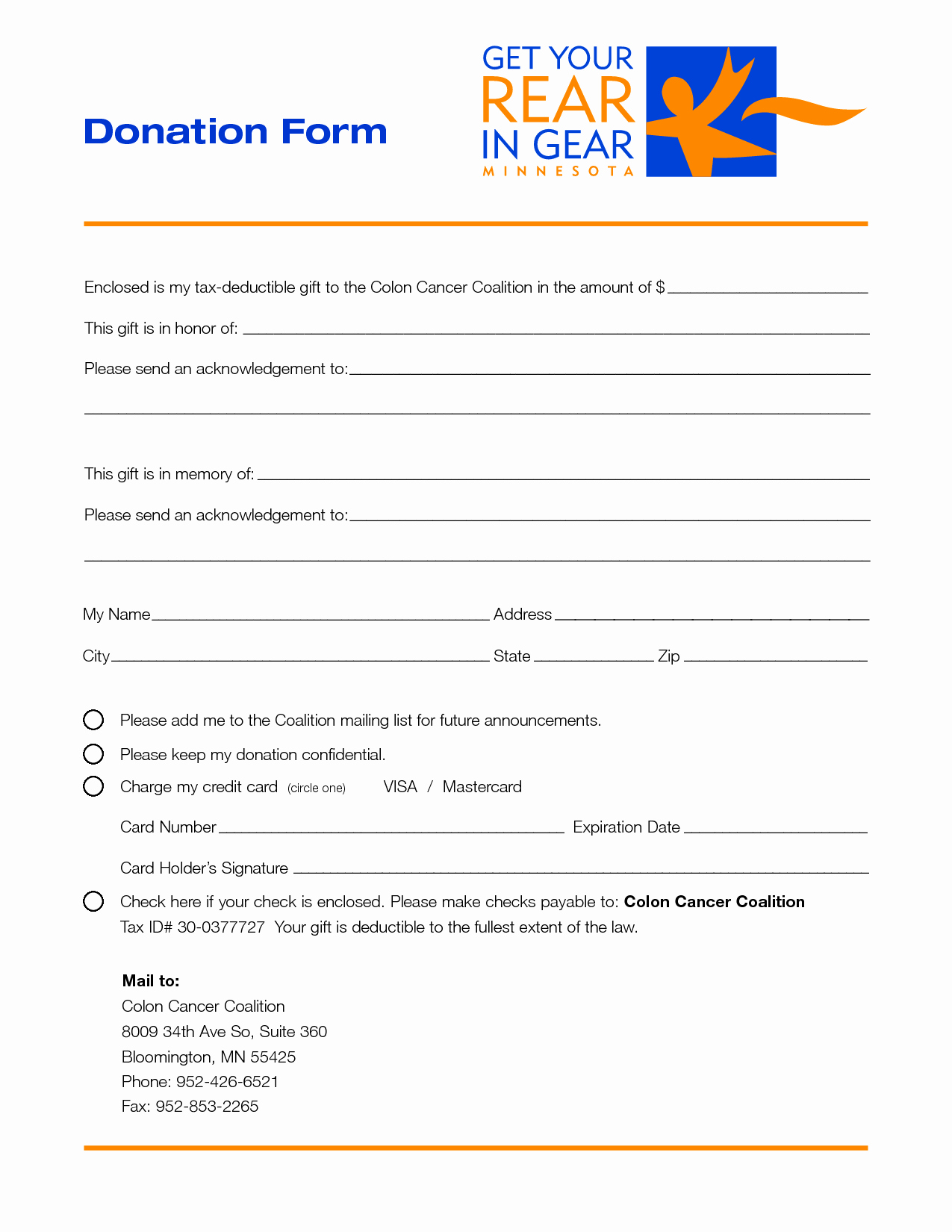 Printable Donation form Template New 4 Donation form Template 43 Free Donation Request Letters