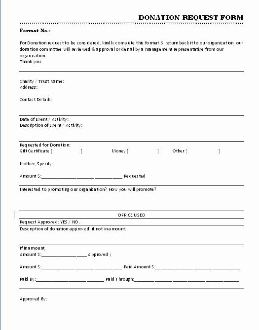 Printable Donation form Template Unique 36 Free Donation form Templates In Word Excel Pdf