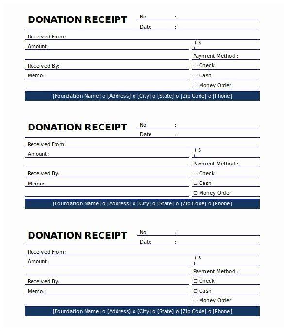 Printable Donation form Template Unique Printable Donation Receipt Template Free the Proper