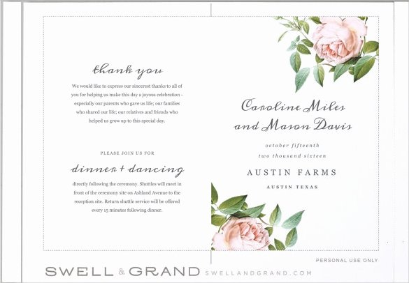 Printable event Program Template Best Of Wedding Program Templates – 15 Free Word Pdf Psd