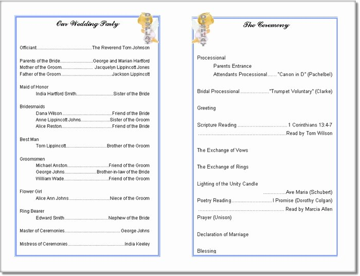 Printable event Program Template Fresh Church Program Template