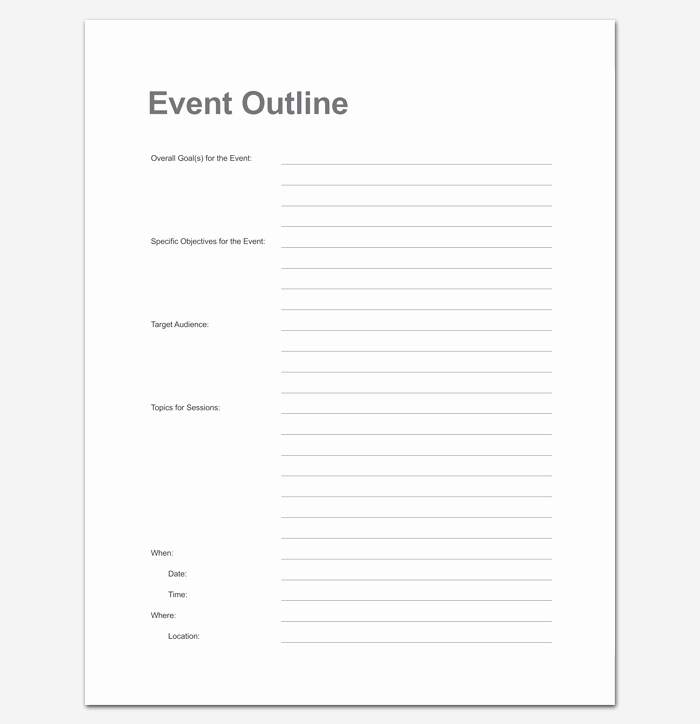 Printable event Program Template Fresh event Program Outline 13 Printable Samples Examples