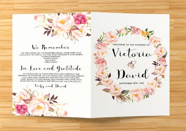 Printable event Program Template Lovely 8 Wedding event Program Templates Psd Vector Eps Ai