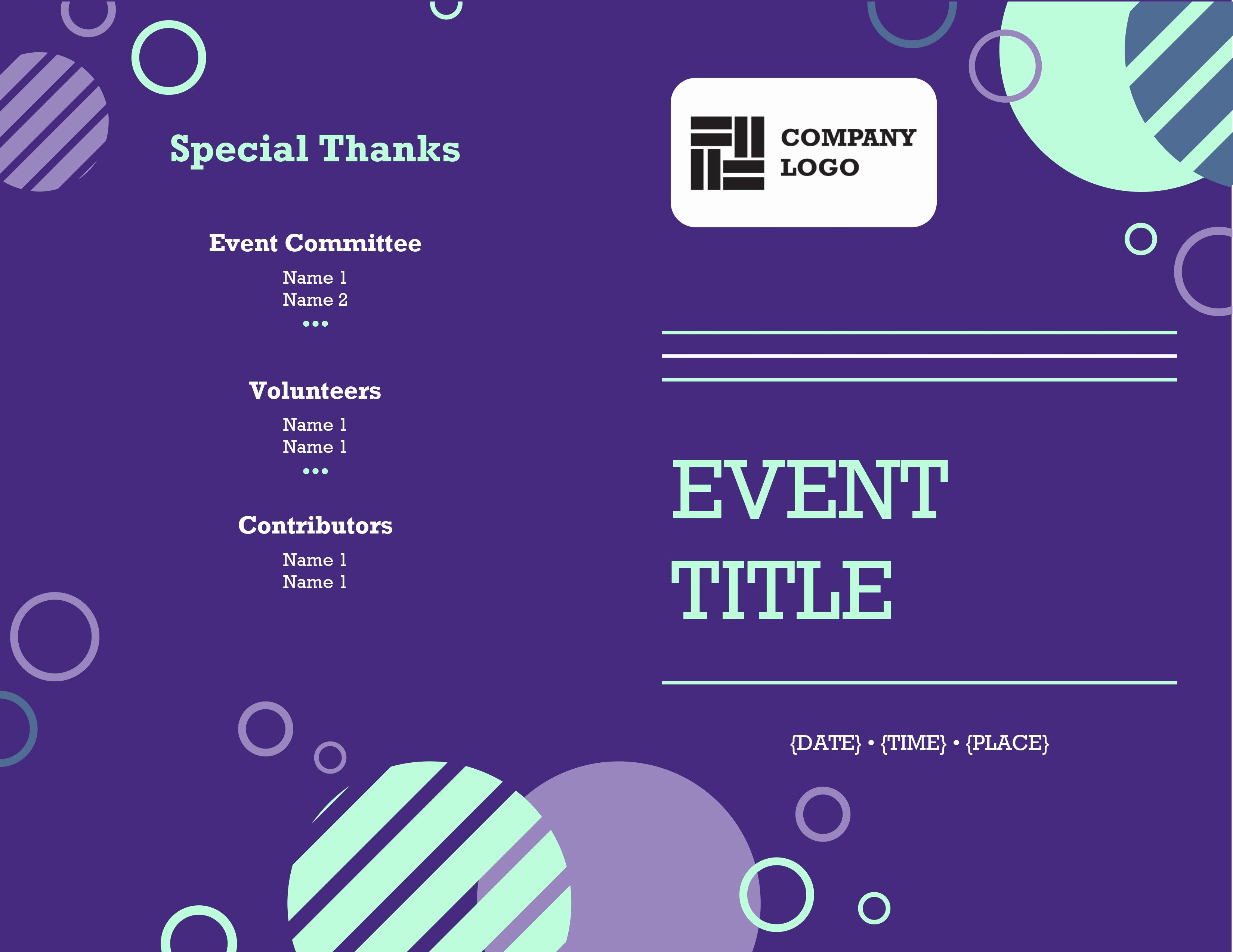 Printable event Program Template Luxury Business Fice