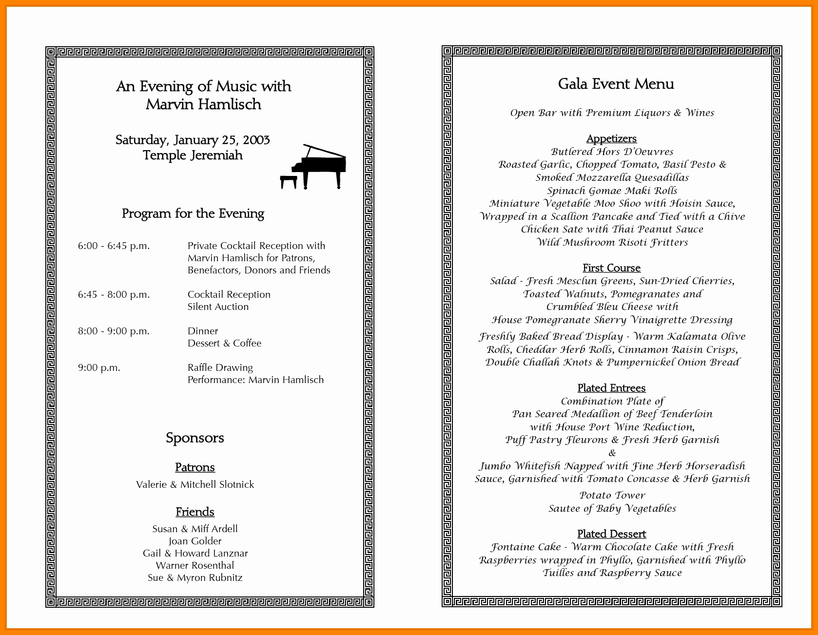 Printable event Program Template New Sample event Programs Template