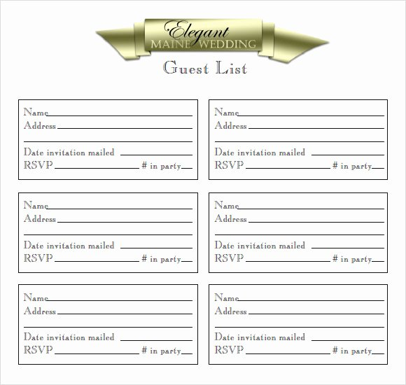 Printable Guest List Template Beautiful Sample Guest List 8 Documents In Pdf Word Excel