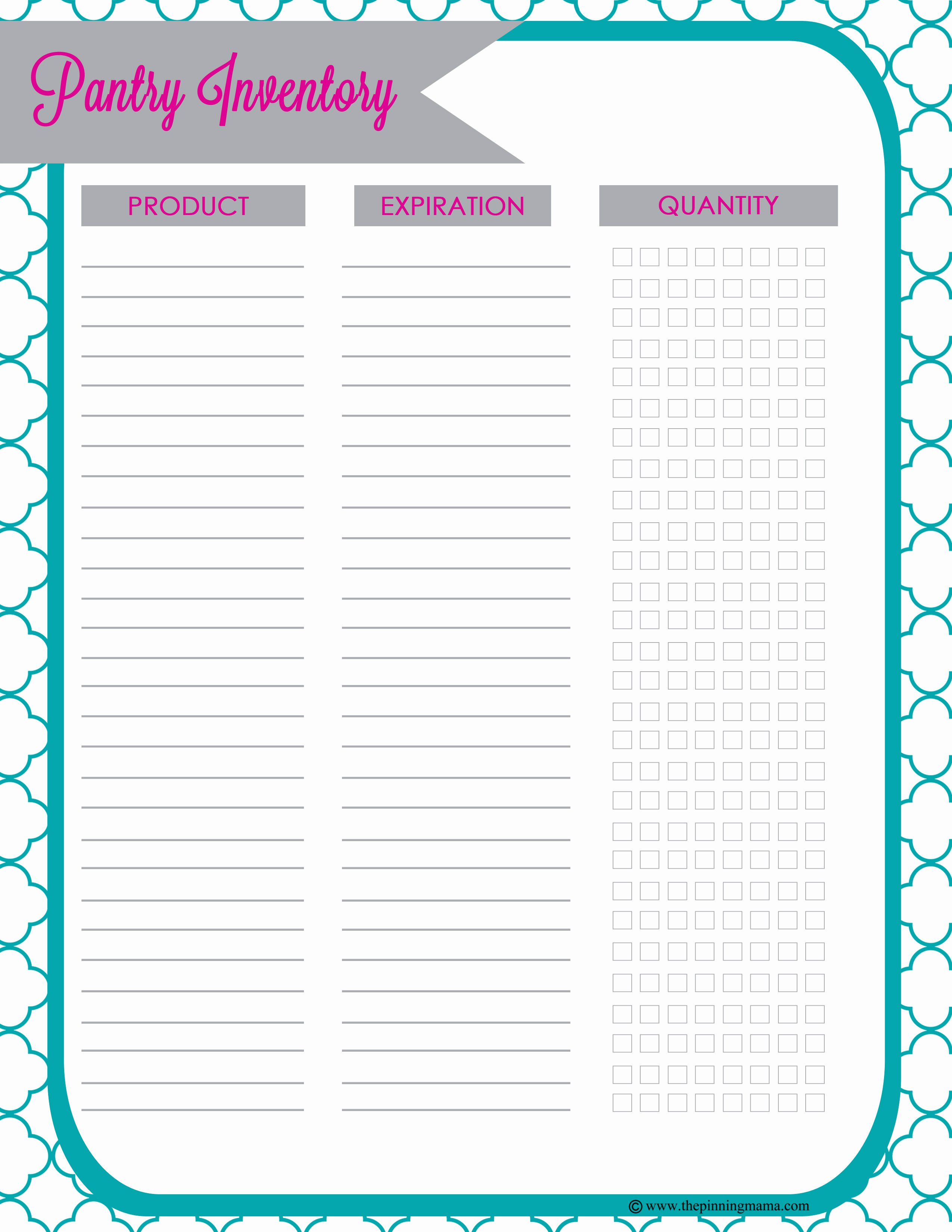 Printable Inventory List Template Elegant 25 Printables for organizing Life after Laundry