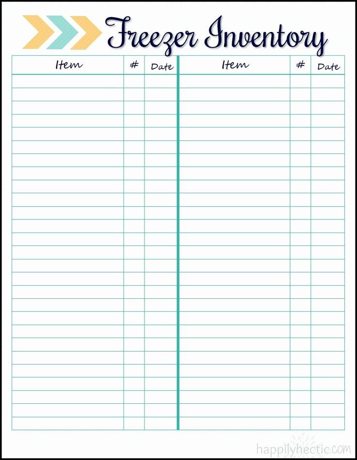 Printable Inventory List Template Inspirational Freezer Inventory Free Printable