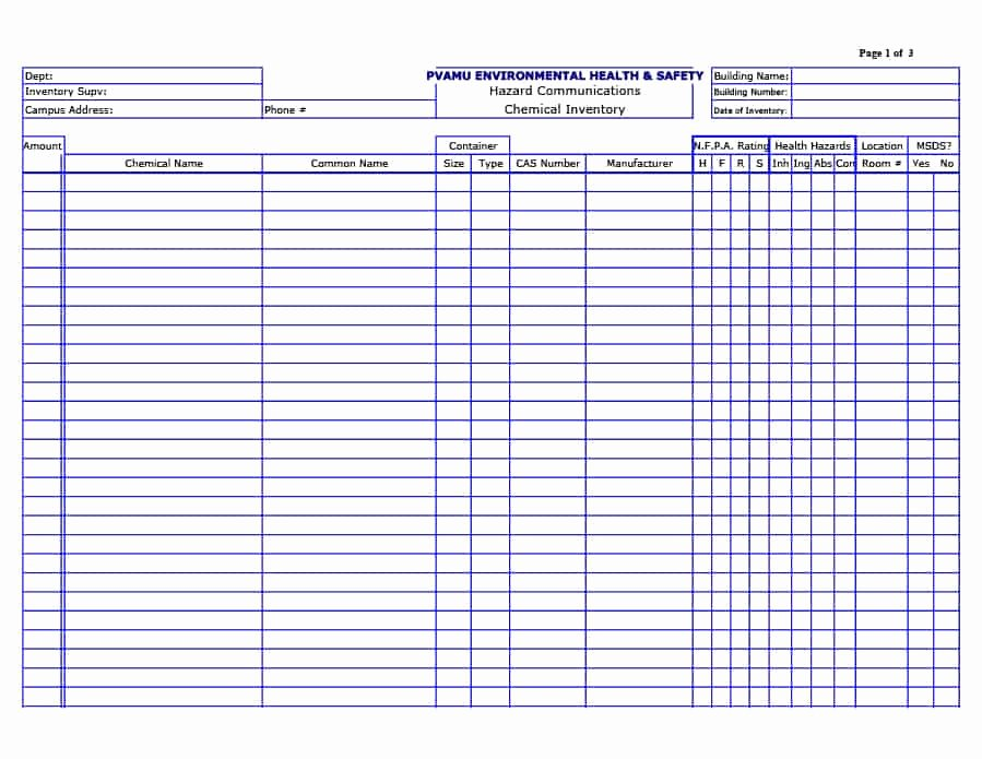 Printable Inventory List Template New 45 Printable Inventory List Templates [home Fice