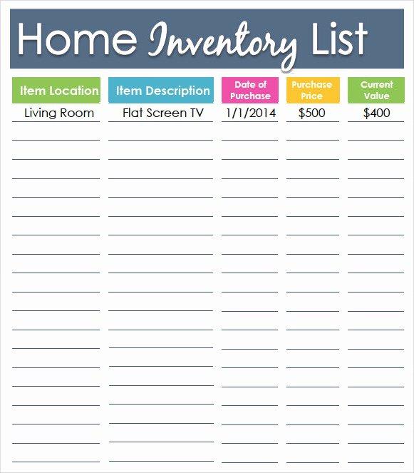 Printable Inventory List Template New Sample Inventory List Template 9 Free Documents