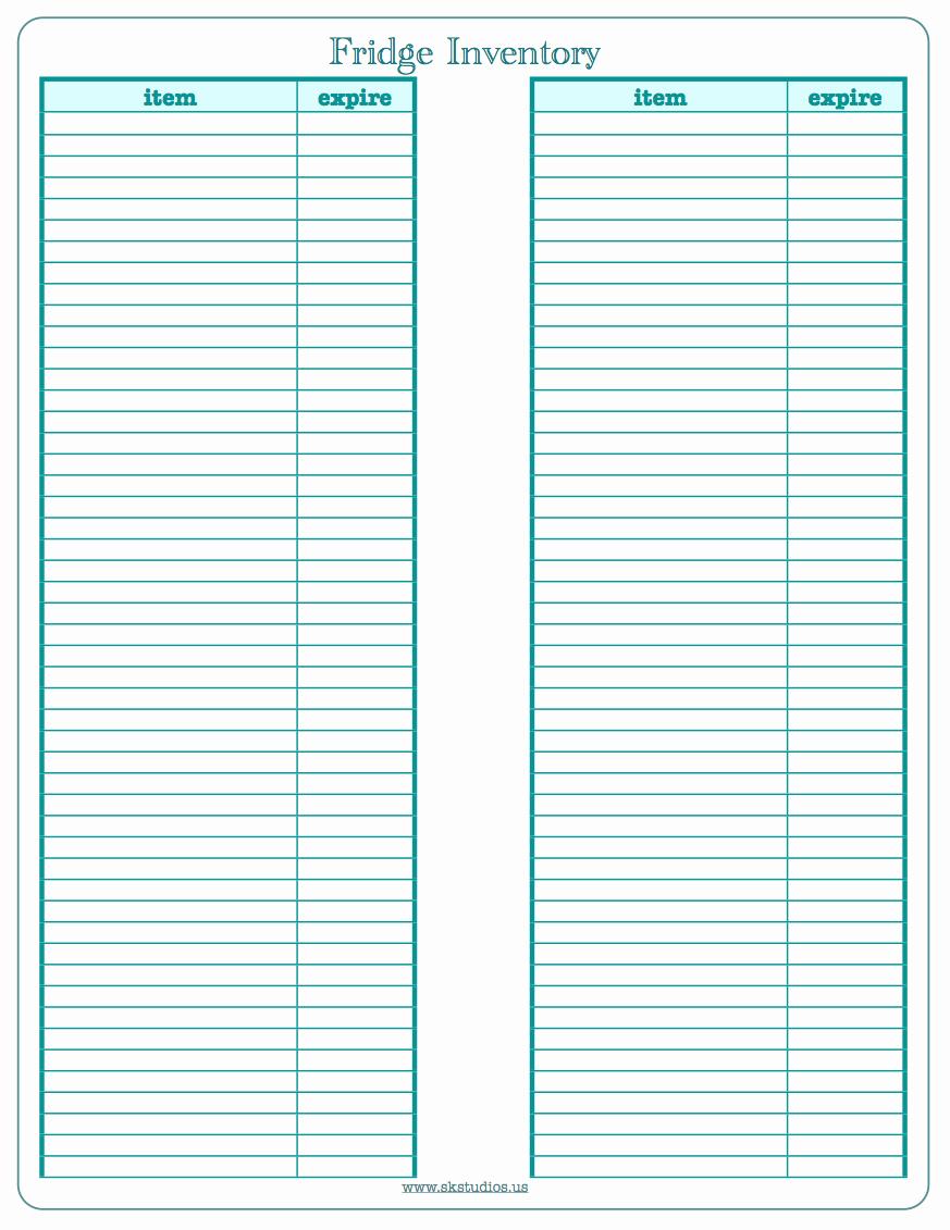 Printable Inventory List Template Unique Sk Studios Homemaking 31 Days Day 28 Fridge Freezer