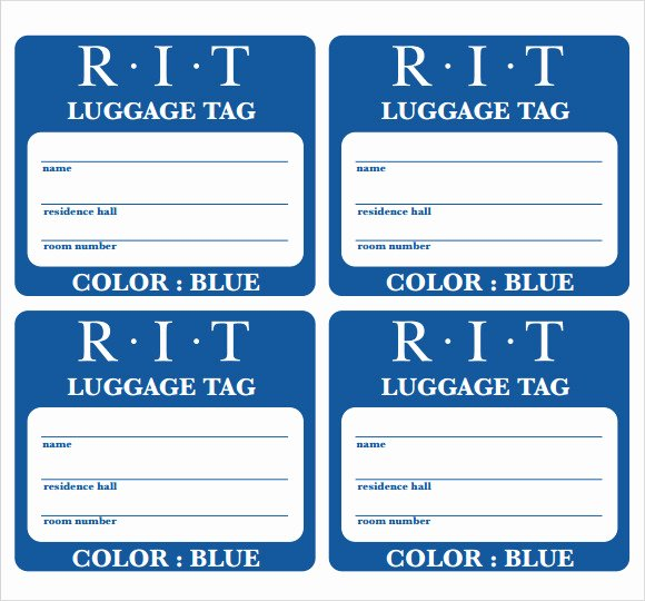 Printable Luggage Tags Template Best Of Sample Luggage Tag Template 28 Free Documents In Pdf Psd