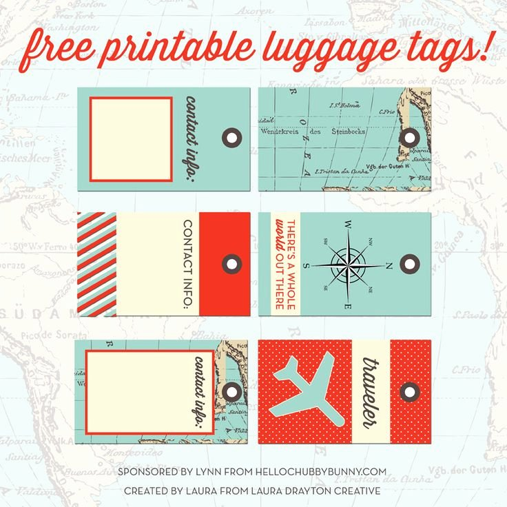 Printable Luggage Tags Template Fresh 33 Best Images About Printable