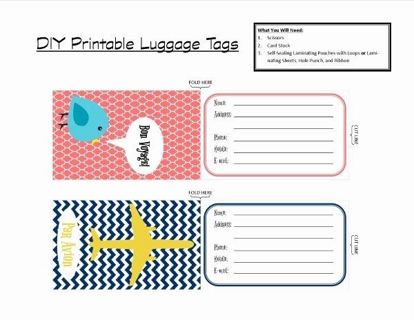 Printable Luggage Tags Template Inspirational Luggage Tag Template