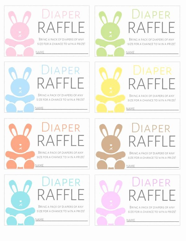 Printable Raffle Tickets Template Awesome Free Printable Diaper Raffle Tickets