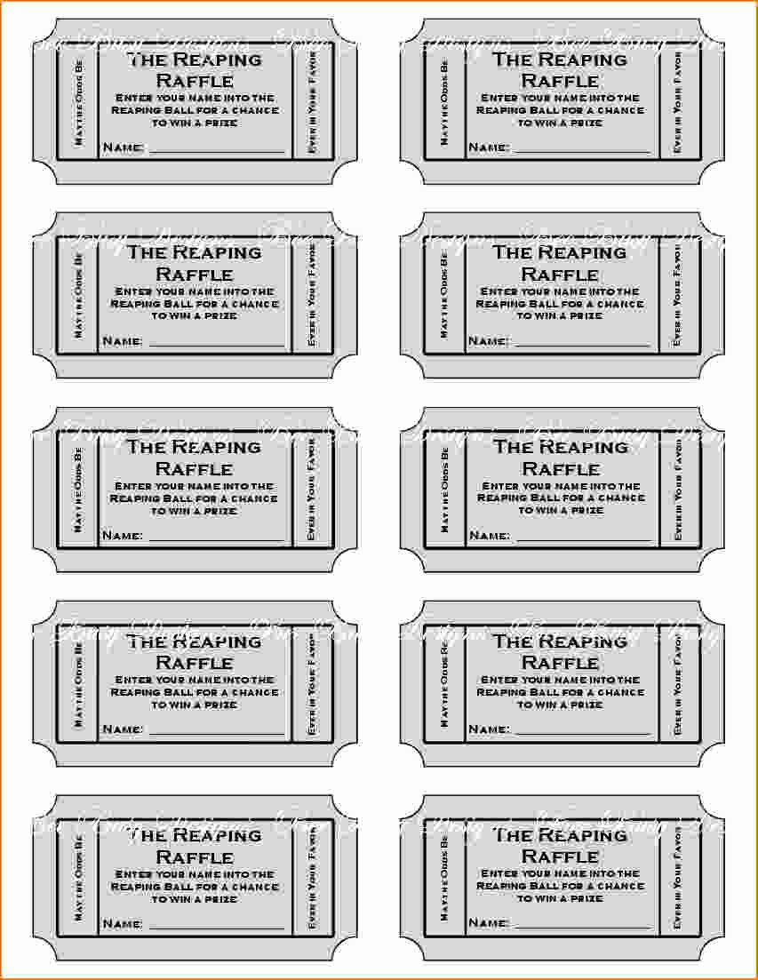 Printable Raffle Tickets Template Awesome Free Printable Raffle Tickets with Stubs Free Download