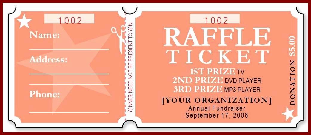Printable Raffle Tickets Template Beautiful Free Raffle Ticket Template