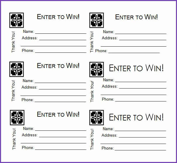 Printable Raffle Tickets Template Fresh Free Printable Raffle Tickets