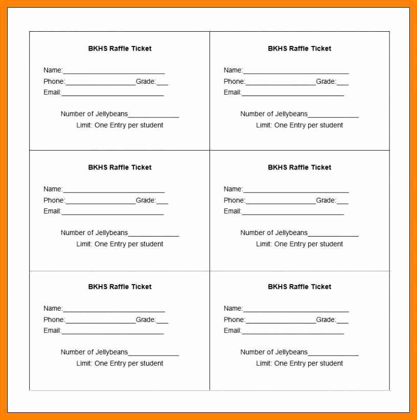 Printable Raffle Tickets Template Inspirational 9 10 Raffle Ticket Printing Template