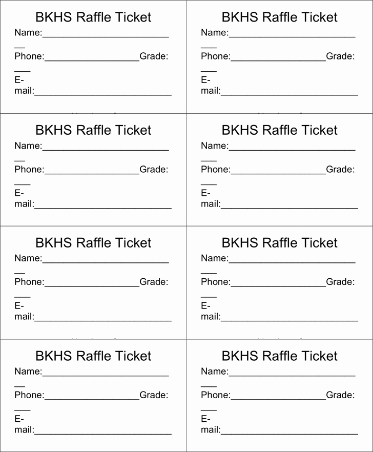 Printable Raffle Tickets Template Inspirational Raffle Ticket Templates Word Templates Docs