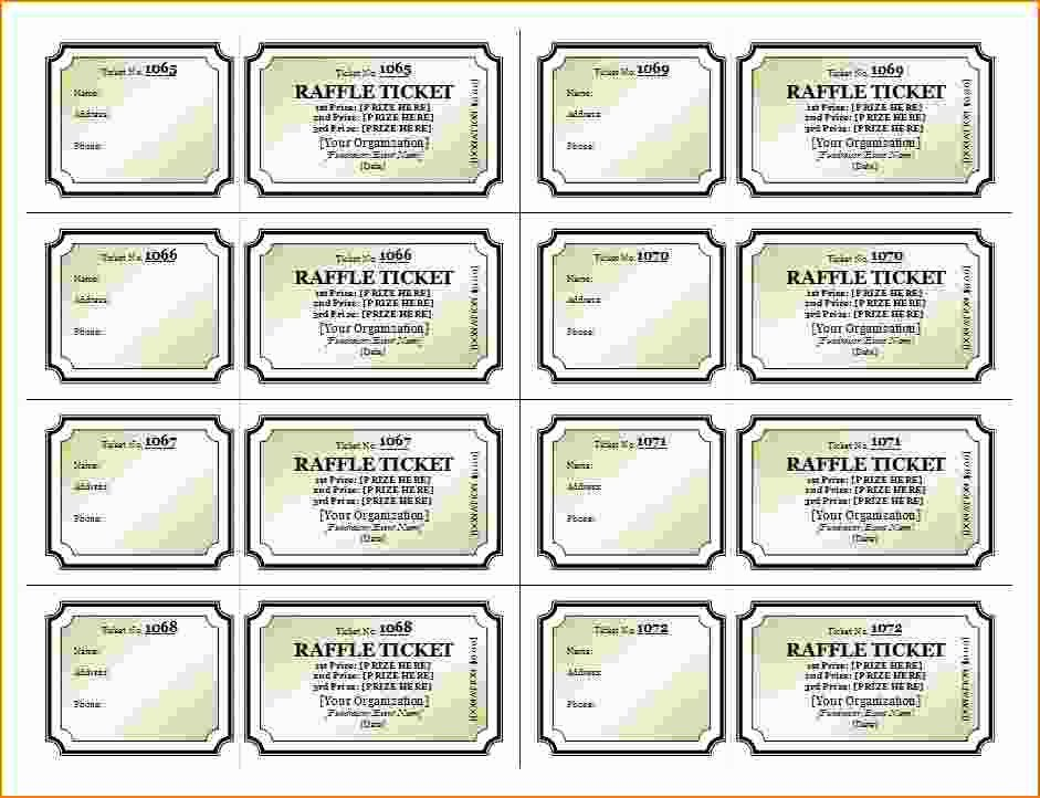 Printable Raffle Tickets Template Lovely 3 Printable Raffle Ticket Template