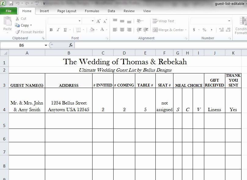 Printable Wedding Guest List Template Best Of Free Downloadable Wedding Guest & Rsvp List