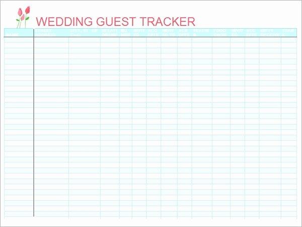 Printable Wedding Guest List Template Luxury 17 Wedding Guest List Templates Pdf Word Excel