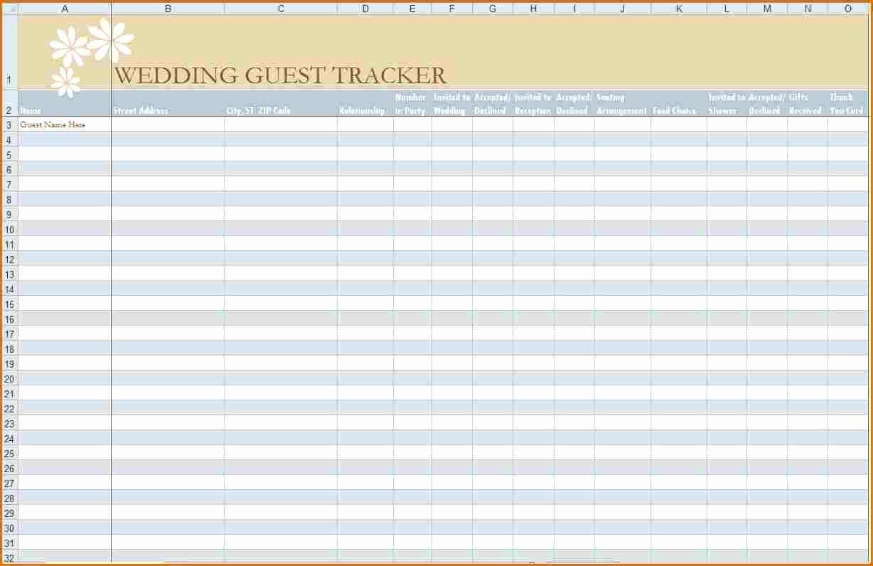 Printable Wedding Guest List Template Luxury 6 Wedding Guest List Printable