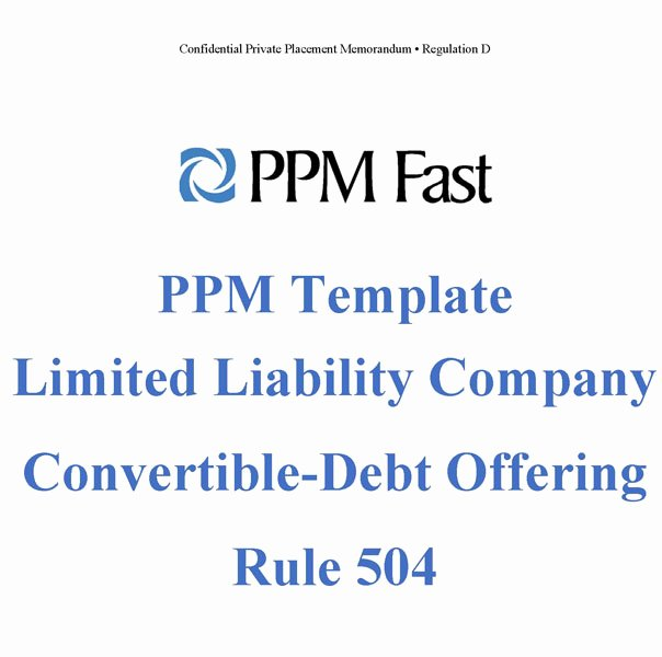 Private Placement Memorandum Template Best Of Ppm Template for Llc Convertible Debt 504 Private
