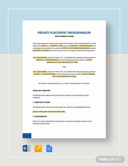Private Placement Memorandum Templates Awesome Sample Private Placement Memorandum 8 Documents In Pdf