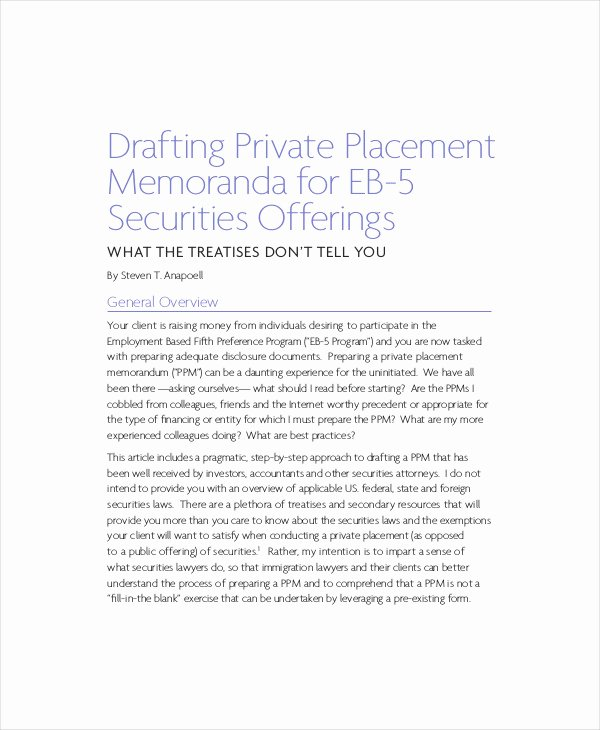 Private Placement Memorandum Templates Inspirational Private Placement Memorandum 12 Free Pdf Documents