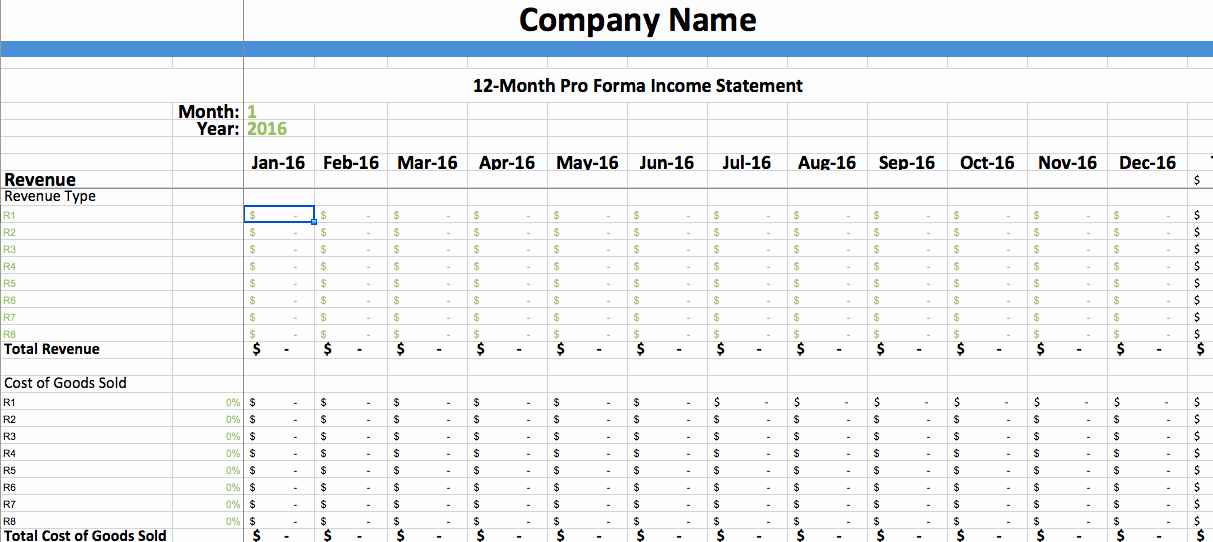 Pro forma Income Statement Template Lovely Pro forma In E Statement Template – Dumbing It Down