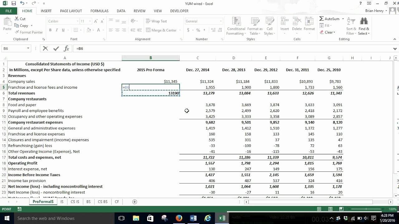 Pro forma Income Statement Template Unique Pro forma In E Statement