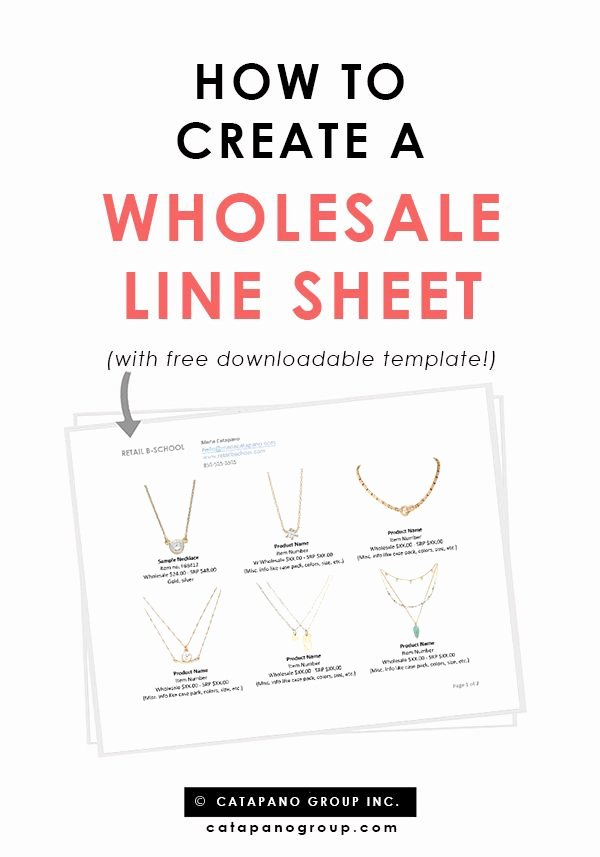 Product Sell Sheet Template Lovely How to Create A wholesale Line Sheet