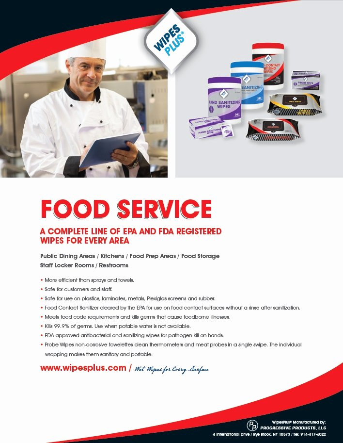 Product Sell Sheet Template Unique Food Service Sell Sheet Wipesplus