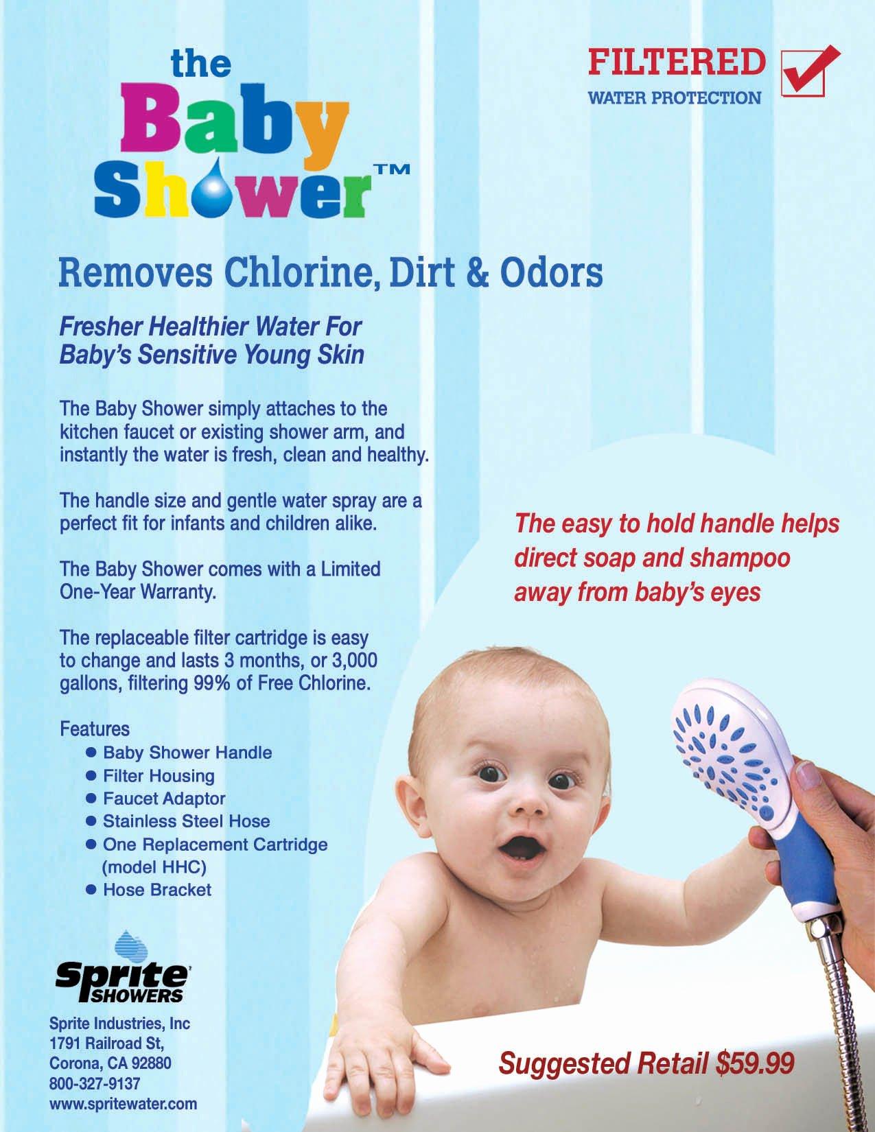 Product Sell Sheet Template Unique Sprite Baby Shower Filter for softer Cleaner Babies