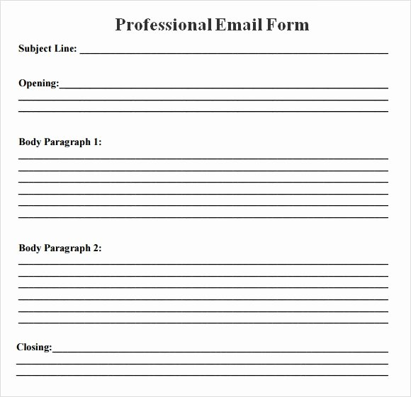Professional E Mail Template Awesome Free 7 Sample Professional Emails In Pdf
